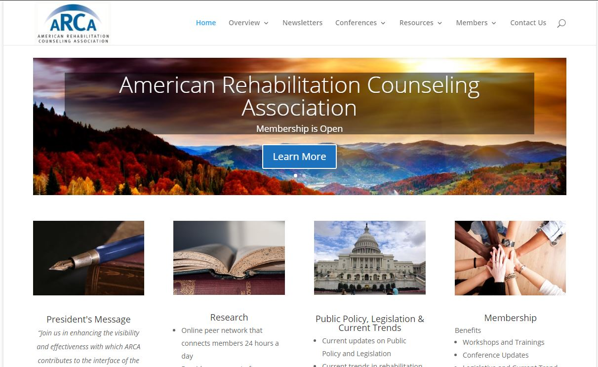 American Rehabilitation Counseling Association (ARCA) – Website